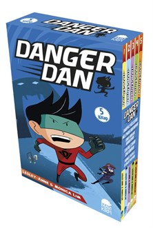 Danger Dan - Set (5 Kitap) - Lesley Anne, Monica Lim
